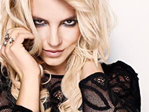 Картинка Бритни Спирс Волосы Блондинка Смотрит Лицо Знаменитости Девушки