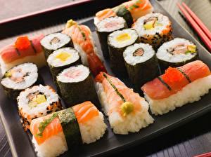 Обои Морепродукты Суши