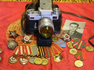 Обои Ретро Орден Фотоаппарат СССР Медаль
