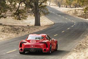 Фотография Тойота Дороги Красный Вид 2014 FT-1 Авто Природа