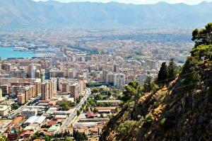 Картинка Италия Дома Сверху Palermo Города
