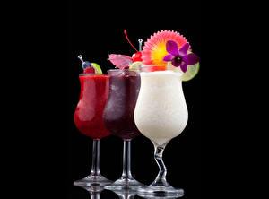 Фотографии Напитки Коктейль Бокал Еда