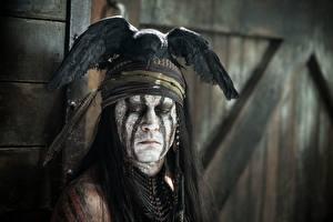 Обои Одинокий рейнджер Johnny Depp Мужчины Индейцы Фильмы