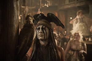 Фотографии Одинокий рейнджер Johnny Depp Мужчины Индейцы Фильмы Знаменитости
