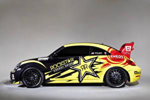 Фотографии Фольксваген Тюнинг Сбоку Ралли beetle Red Bull Global Rallycross Автомобили