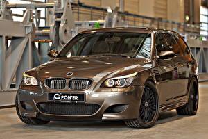 Картинки BMW Тюнинг Металлик Фар 2014 G-Power M5 Hurricane RR Автомобили