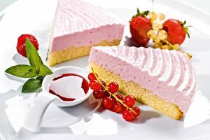 Фотография Сладости Пирожное Торты Тарелке Пища