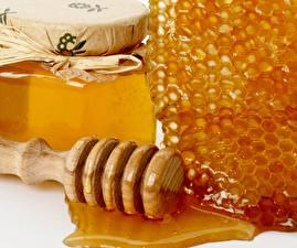 Картинка Сладкая еда Мед Крупным планом Пчелиные соты Еда