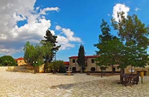 Фотография Республика Кипр Здания Фонтаны Деревья Maroni Города