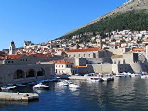 Фотография Хорватия Здания Побережье Дубровник