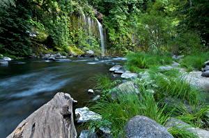 Обои США Реки Водопады Калифорния Природа фото
