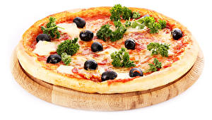 Обои Пицца Крупным планом Оливки Еда