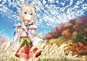 Обои Kitsune Аниме