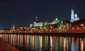 Фото Россия Москва Речка Ночью город