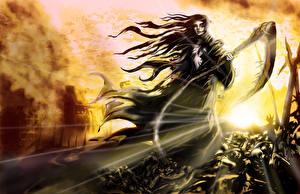 Фотографии Волшебство Смерть С косой Девушки