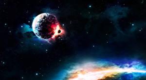 Фотография Планеты Туманности в космосе Катастрофы Космос