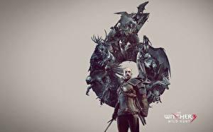 Картинка Воители Монстры The Witcher Ведьмак 0: Дикая Охота Фэнтези