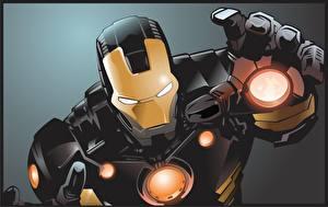 Картинка Герои комиксов Фантастическая Железный человек герой Фэнтези