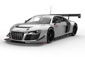 Картинки Ауди Тюнинг Серебряная Металлик 2014 R8 LMS ultra Автомобили