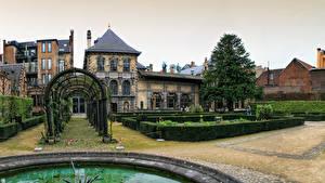 Картинка Бельгия Здания Сады Кусты Rubens House Antwerpen Города