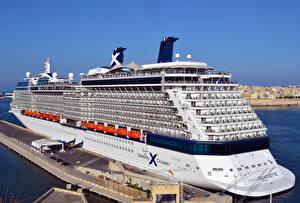 Фото Корабли Круизный лайнер Причалы Мальта Celebrity Silhouette