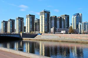 Обои Россия Санкт-Петербург Дома Река by Andrei Antipin Города