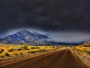 Фотография Штаты Дороги Горы Калифорнии Природа