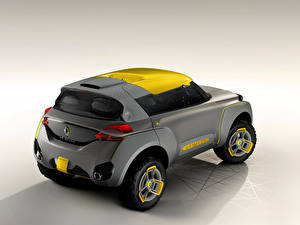 Картинки Renault Серые Сзади 2014 Kwid автомобиль