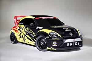Фото Volkswagen Стайлинг Гонки 2014  Beetle Red Bull Global Rallycross series машины