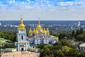 Фото Украина Храмы Дома Киев Города