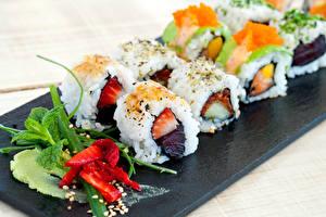 Фото Морепродукты Суши Пища