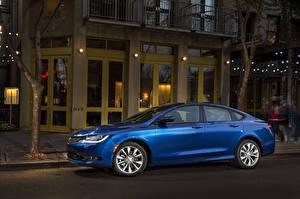 Обои Chrysler Сбоку Синие Седан 2015 200 sedan авто