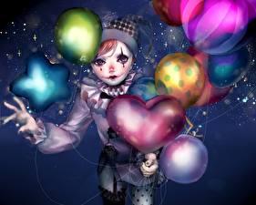 Картинка Праздники Шар Клоун sitry, original Аниме