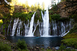 Обои США Водопады Калифорния Природа фото