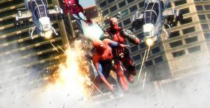 Картинка Герои комиксов Deadpool герой Битвы Человек-паук Фантастика