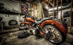 Обои Кастомайзинг Harley-Davidson HDR Мотоциклы фото