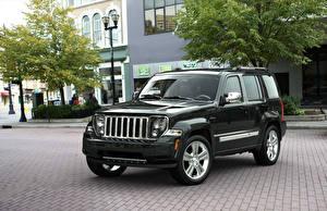 Фотографии Jeep Тюнинг Черных 2011 Liberty автомобиль