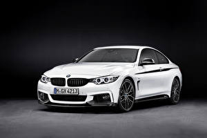 Фото BMW Белые 2013 4er F32 Автомобили
