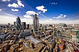 Картинки Великобритания Англия Дома Небо Лондон Города