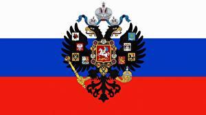 Фотографии Россия Флаг Герб Двуглавый орёл