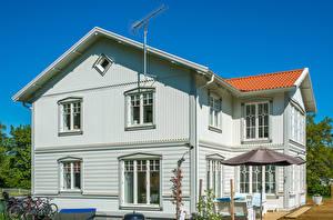 Картинка Швеция Дома Особняк Vaxholm