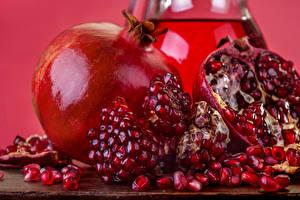 Фото Гранат Вблизи Красные Зерно Еда