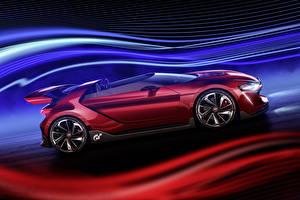 Фотографии Volkswagen Бордовый Кабриолет Сбоку Родстер 2014 GTI roadster Автомобили