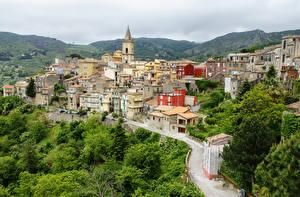 Картинки Италия Здания Дороги Сицилия Messina by Andrei Antipin Города