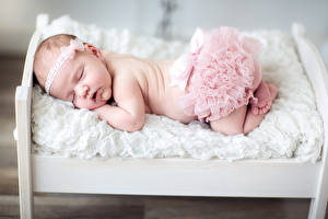 Фото Младенцы Спит Кровати Дети