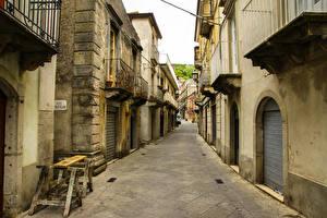 Фото Италия Дома Сицилия Улица Messina город