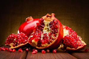 Фото Гранат Крупным планом Красных Пища