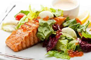Картинки Морепродукты Рыба Овощи Картошка Капуста