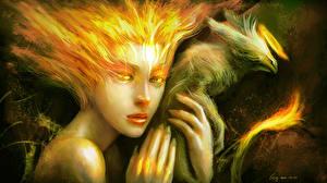 Обои Волшебные животные Магия Сверхъестественные существа Феникс Фэнтези