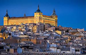 Фото Испания Здания Толедо Дворец Города